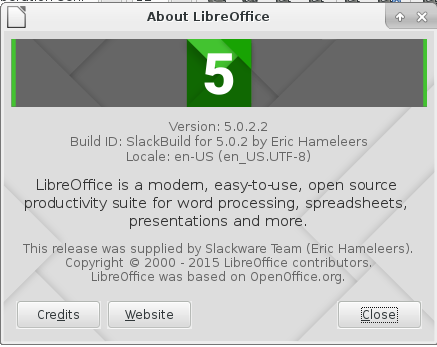 libreoffice 5.0.2