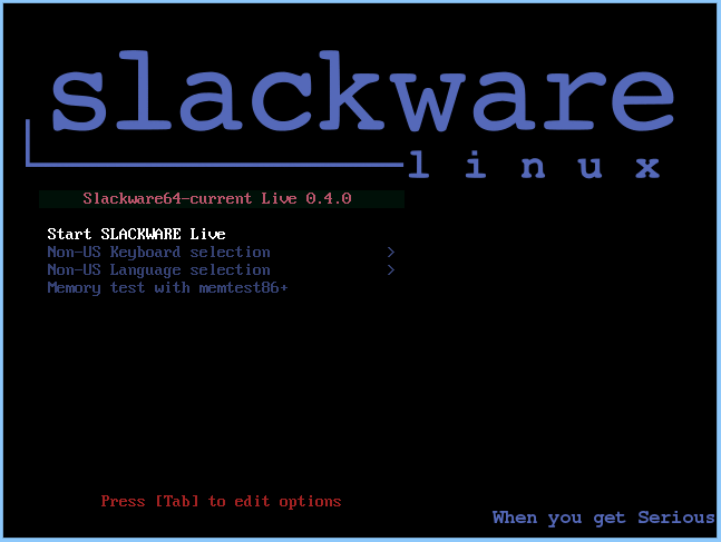 New ISO images for Slackware Live Edition (beta 7) | Alien